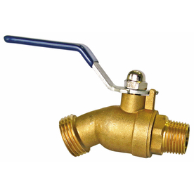 AMERICAN VALVE 4.92-in L 1/2-in Dual Pattern Brass Quarter Turn Hose Bibb
